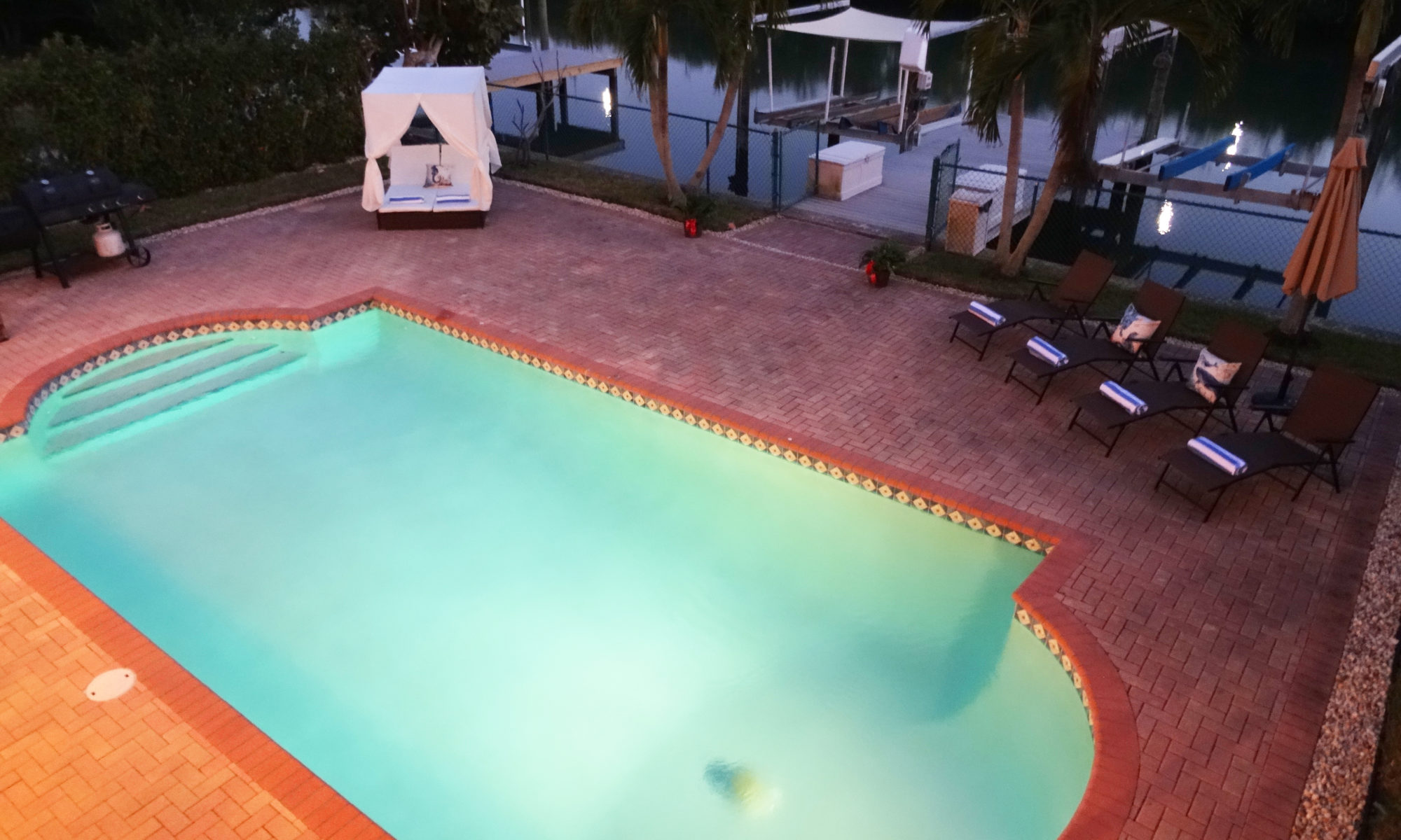 private home rental with heated pool